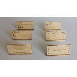 Drewniane winietki