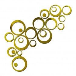 Złote koła dekoracyjne 3D