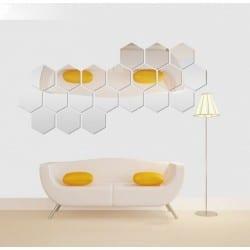 Lustro Hexagon 8 szt